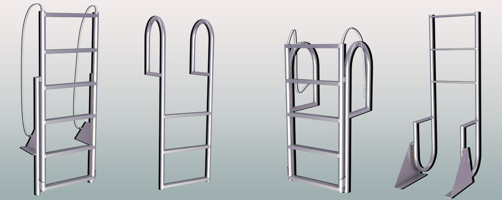 Dock Ladders: Stationary, Retractable Lift, and Swing Ladders