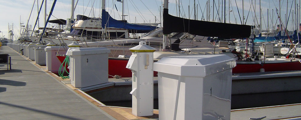 Light Your Dock with Power Pedestals